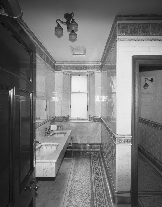 Interior General view of lavatory opposite Breakfast Room on ground floor Digital image of SU/766
