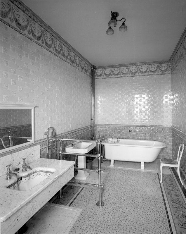 Interior General view of Mrs Carnegie's bathroom on first floor Digital image of SU/770