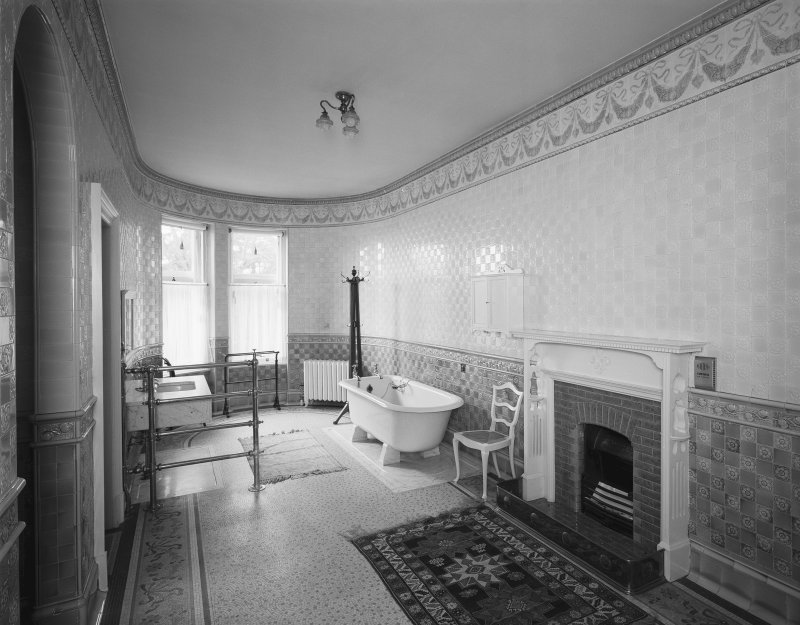 Interior View of Mrs Carnegie's bathroom on first floor Digital image of SU/773