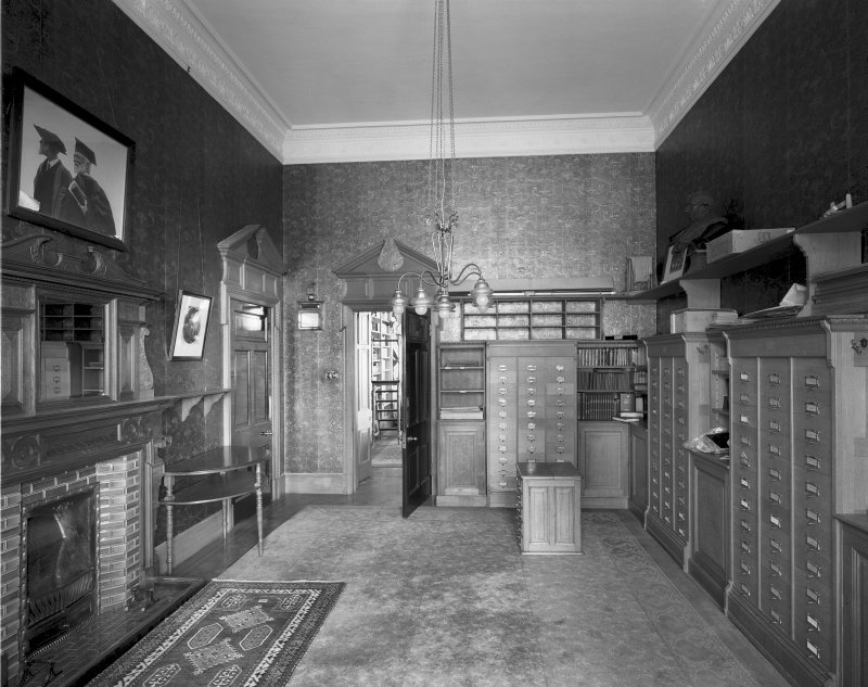 Interior View of ground floor Secretary's room from W Digital image of SU/782