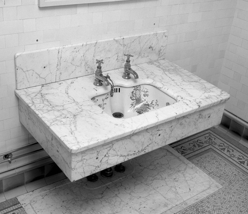 Interior Detail of wash hand basin Digital image of SU/809