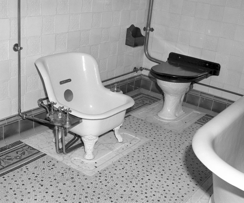 "Interior Detail of ""Sitz Bath"" in bathroom next to Montrose Room on first floor west corridor Digital image of SU/809"