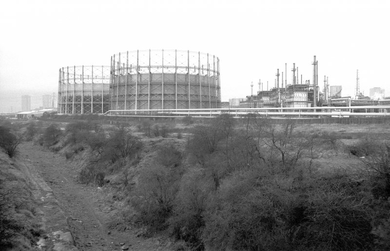 View from ESE showing gasholders and works