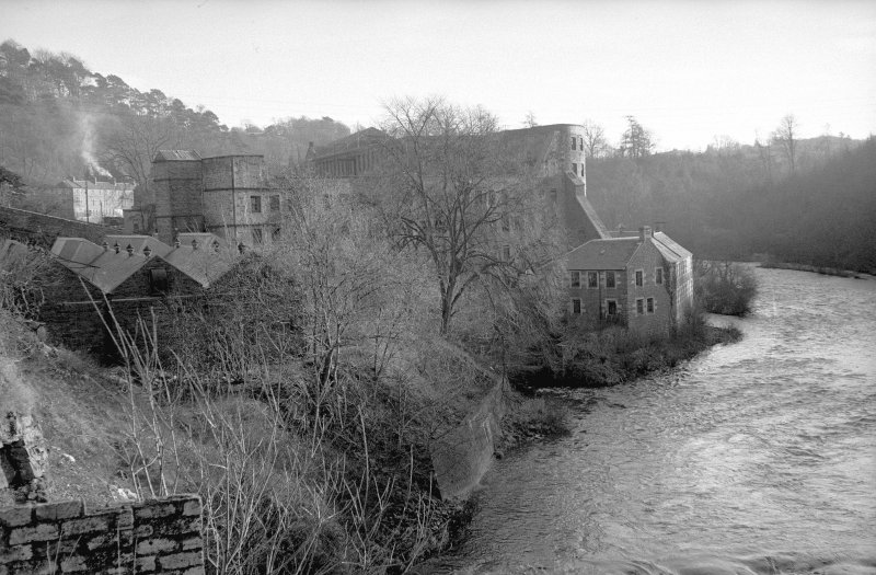 General view from NNW showing Mill no 1 with Water Houses to the right