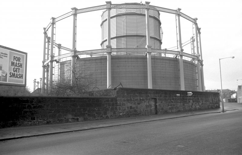 View from ESE showing gasholders