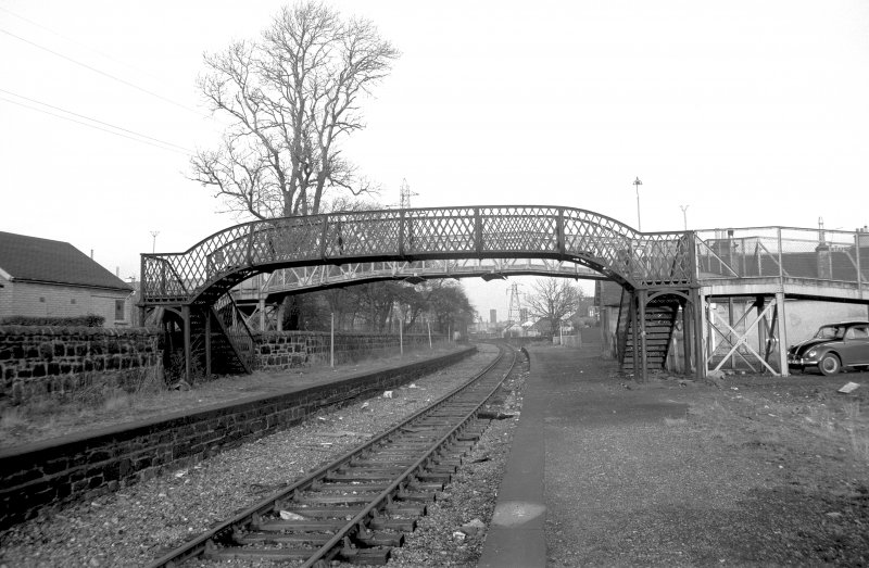 View from SW showing SW front of footbridge