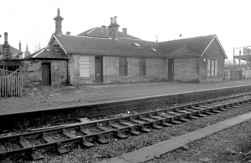 View from N showing NW and NE fronts of station offices