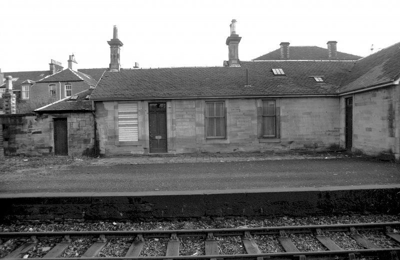 View from NW showing part of NW front of station offices