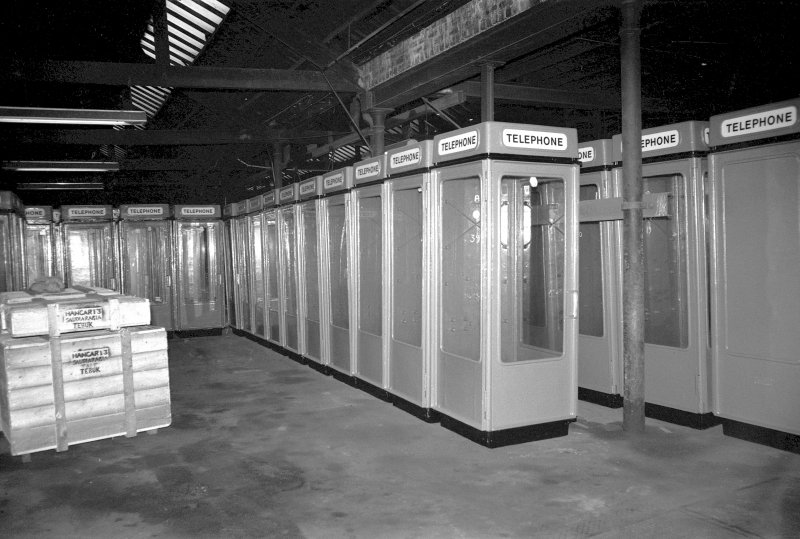 Interior View showing new pattern of telephone kiosks