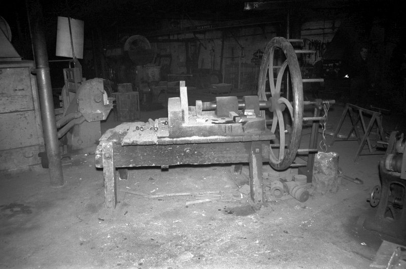 Interior View showing hand-worked bending machine