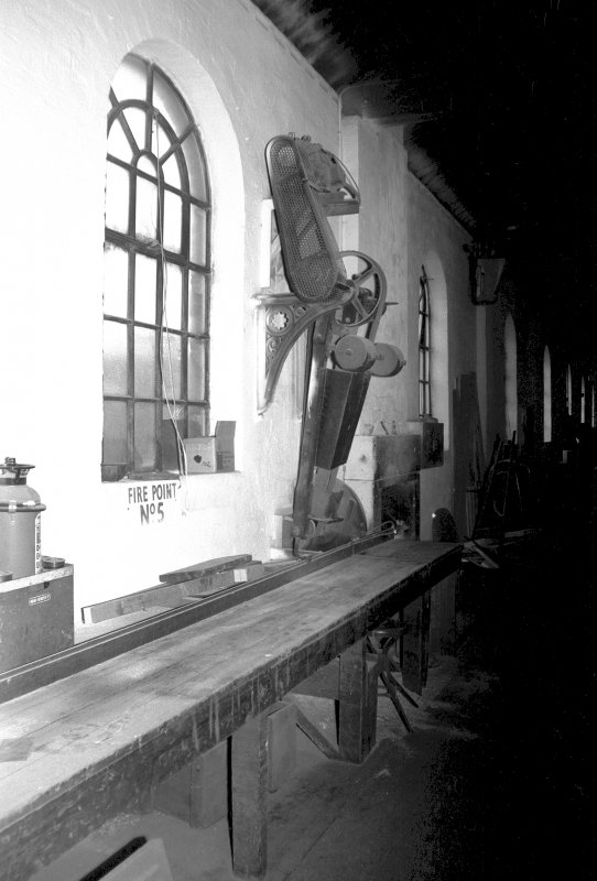 Interior View showing circular saw in pattern shop