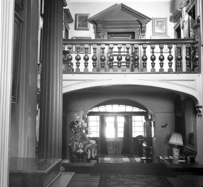 Interior view of the entrance hall looking westwards towards the door. Digital image of B 38772.