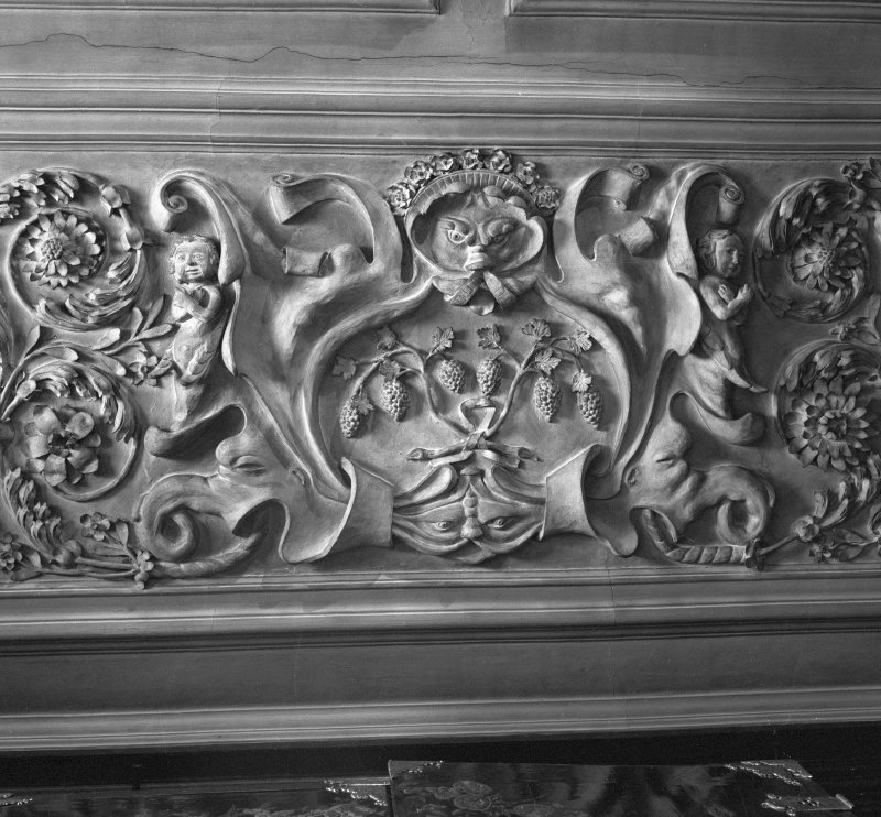 Detail of plaster ceiling. Digital image of B 38756.