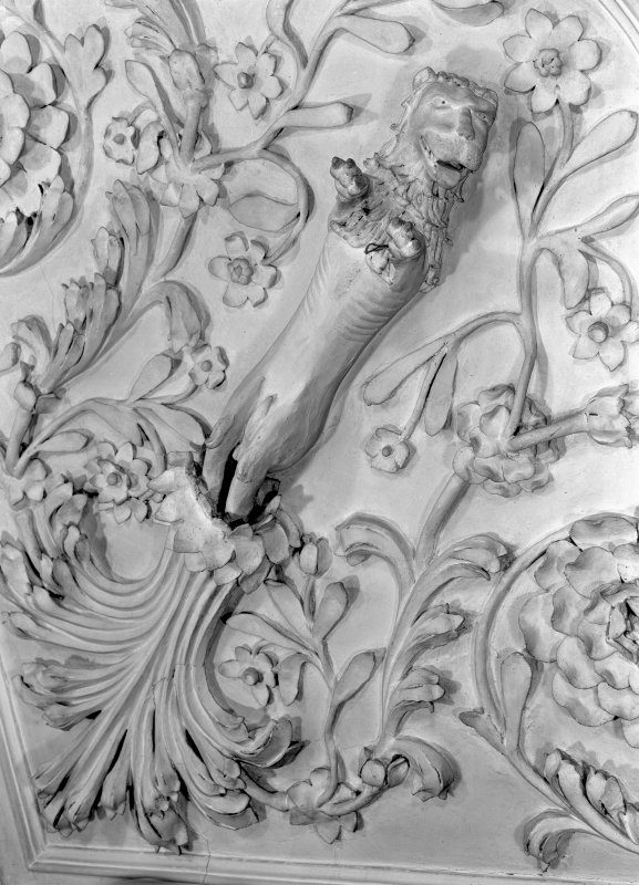Detail of plaster ceiling in the Tapestry Room. Digital image of ED 1937.