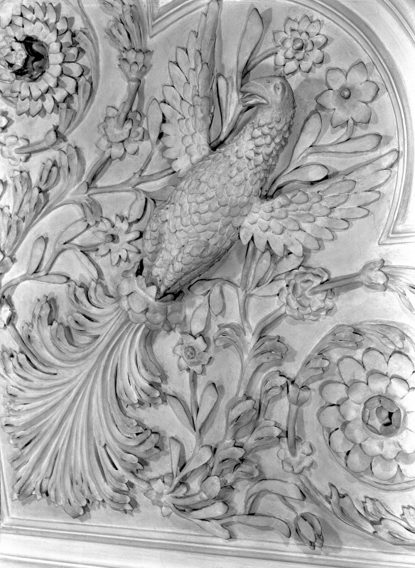 Detail of plaster ceiling in the Tapestry Room. Digital image of ED 1935.