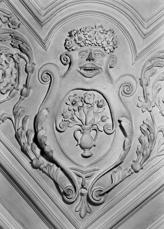 Detail of plaster foliage in the Tapestry Room. Digital image of ED 1941.
