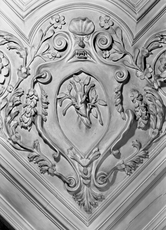 Detail of plaster foliage in the Tapestry Room. Digital image of ED 1940.