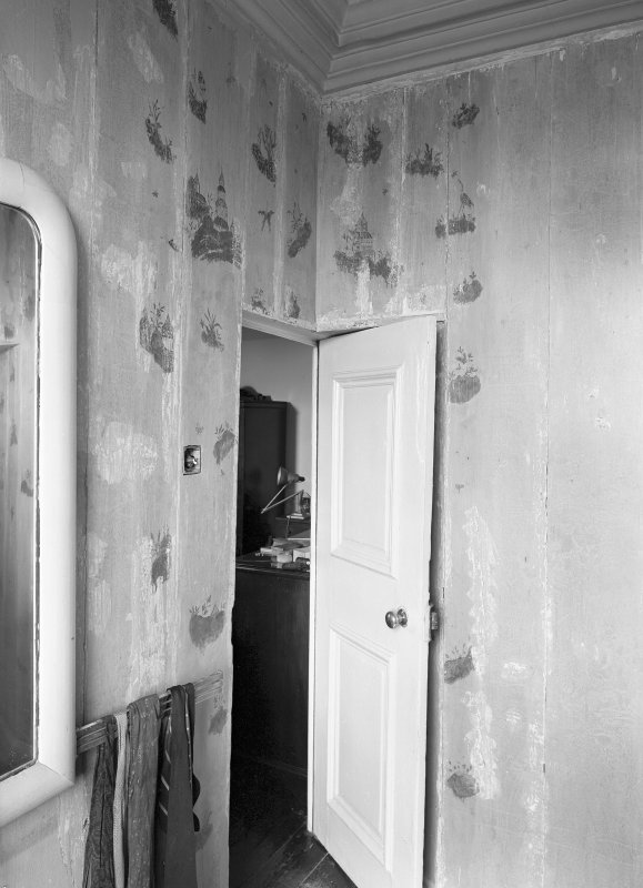 Interior view, the Cunningham Room showing painted boards. Digital image of ED 1930.