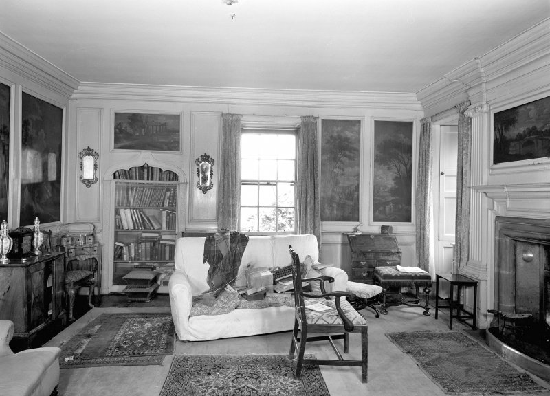 Interior view of sitting room/Italian Room. Digital image of ED 1945.