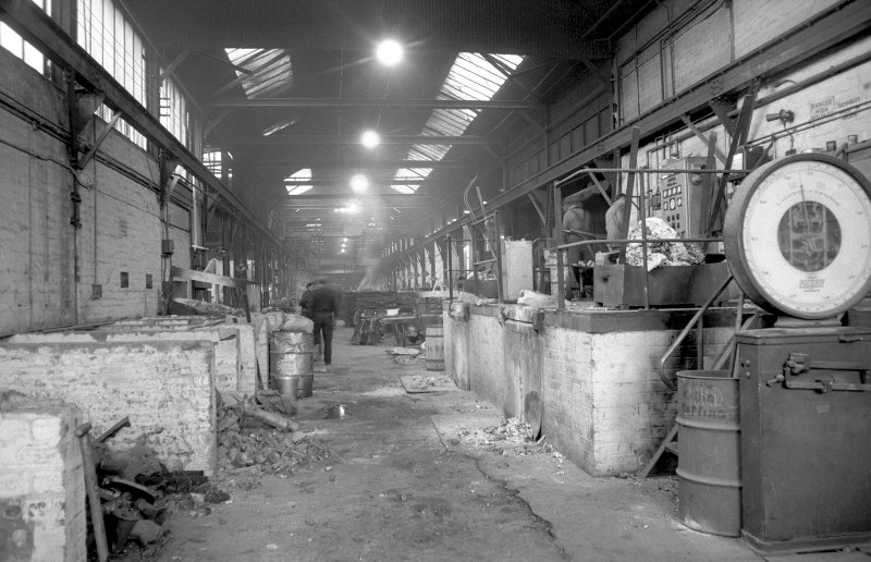 Interior View showing induction furnaces for steel founding