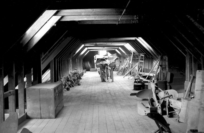 Interior View showing plough store