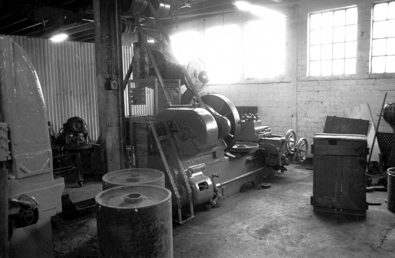 Interior View showing heavy lathe