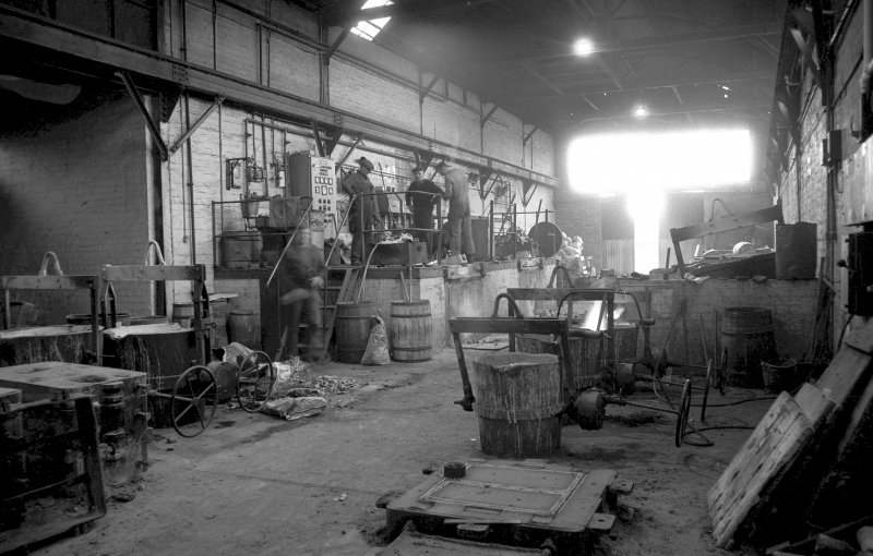 Interior View showing induction furnaces