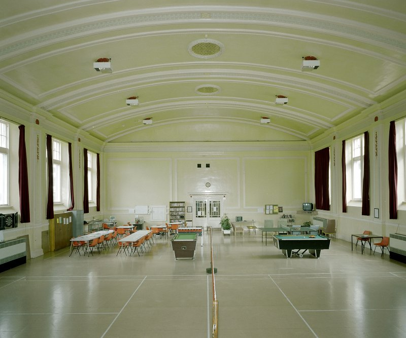 Inverness, Leachkin Road, Northern Counties District Lunatic Asylum Interior -view of recreation/sports hall Digital image of E 3033 cn
