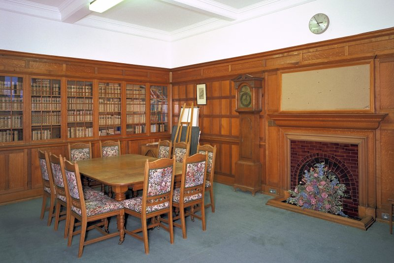 View of ground-floor library from S Digital image of E 3871 cn