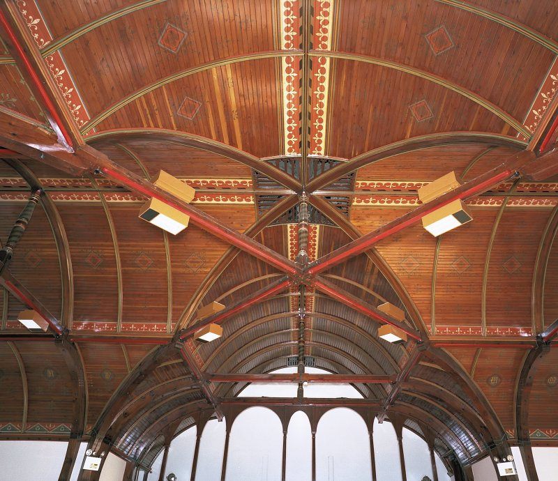 Detail of first-floor recreation hall roof Digital image of E 3895 cn