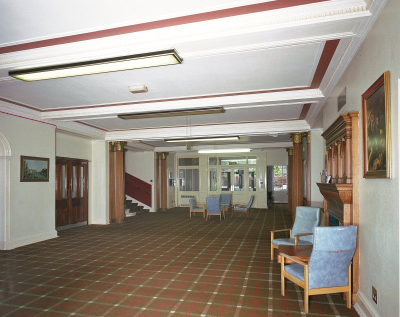 Carnegie Lodge -view of ground-floor entrance hall from SE Digital image of E 3929 cn