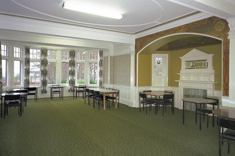 Carnegie Lodge -view of ground-floor dining room from N Digital image of E 3931 cn
