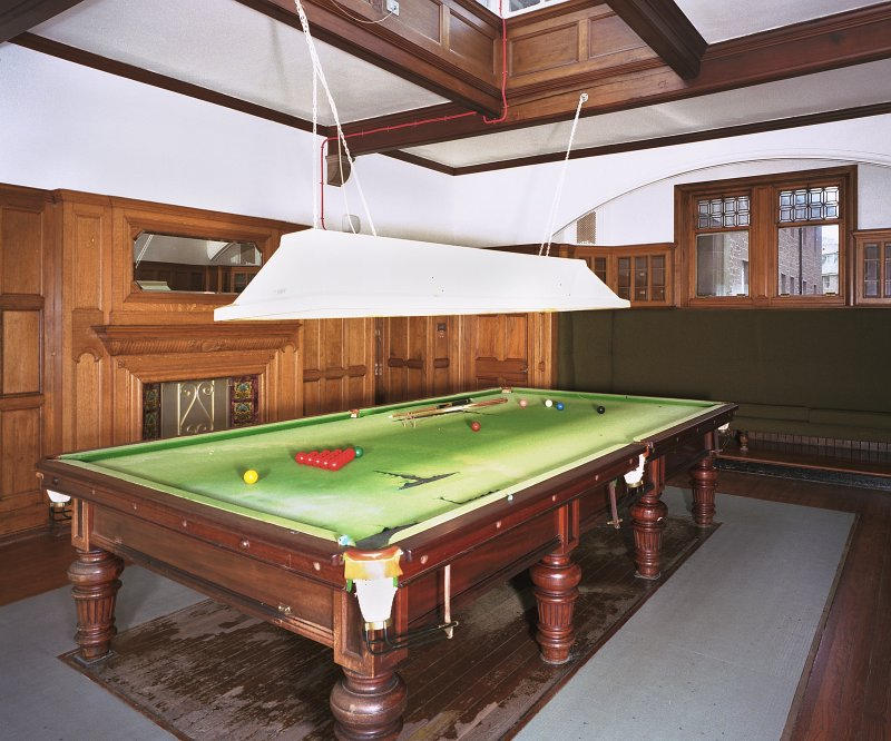 Carnegie Lodge -view of ground-floor billiard room from SE Digital image of E 3935 cn