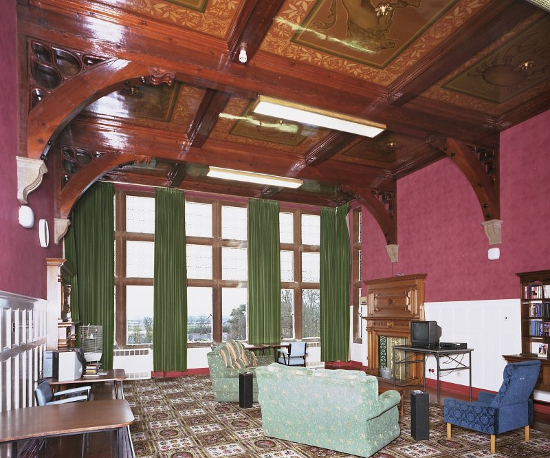 Carnegie Lodge -view of first-floor 'Zodiac Room' from N Digital image of E 3938 cn