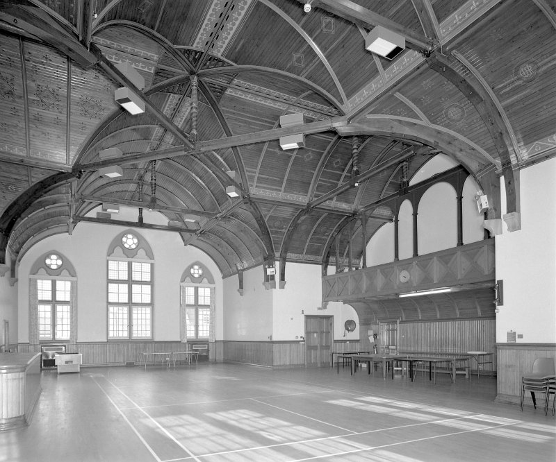 General view of first-floor recreation hall from E Digital image of E 3892