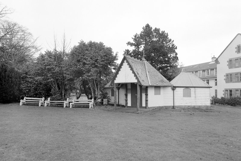 Nurses' Home and Cricket Pavilion -view from W Digital image of E 3972