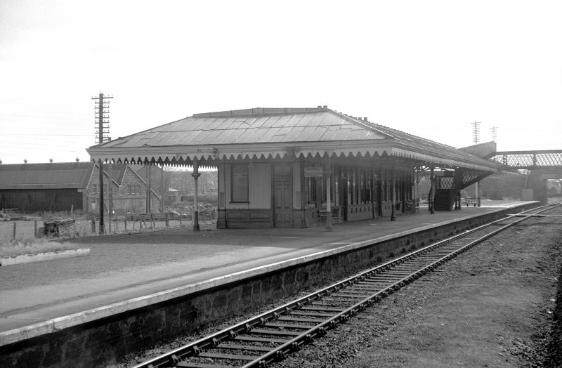 View from NW showing NNW and WSW fronts of up-platform building
