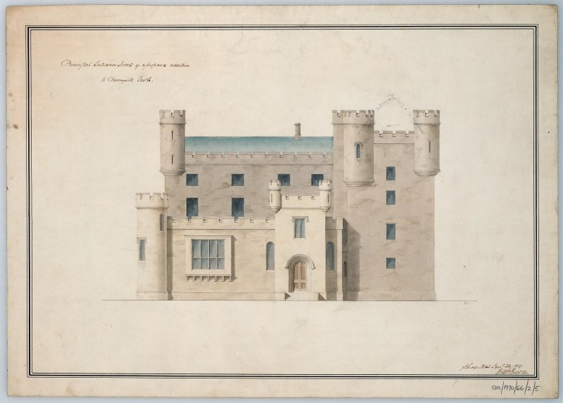 Elevation showing alterations and additions. Scanned image of E 12257 CN.