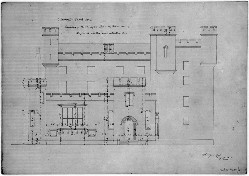Principal floor plan. Scanned image of E 12219 P.