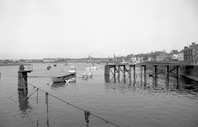 View from WSW showing wooden jetty
