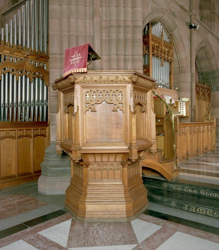 Interior -view of pulpit and organ Digital image of C 17688 CN