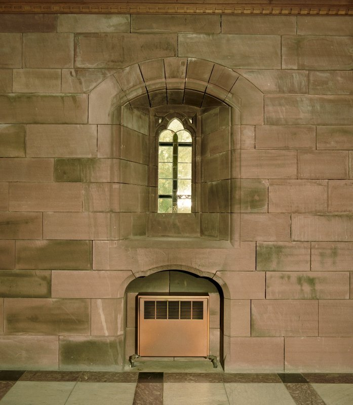 Interior -detail of arched window with niche below in N wall Digital image of C 17692 CN