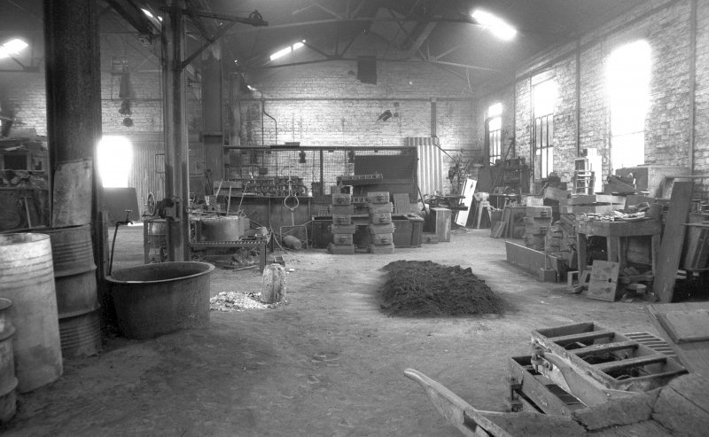 Interior View showing brass shop