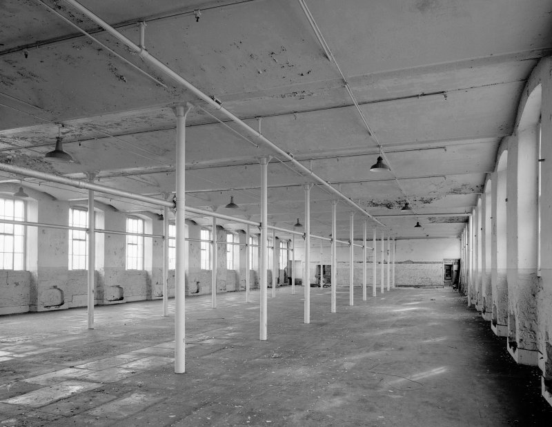 Interior. View of sample flat showing jack-arches and cast-iron columns. (note the cut-outs in side walls for machinery). Digital image of A 38496