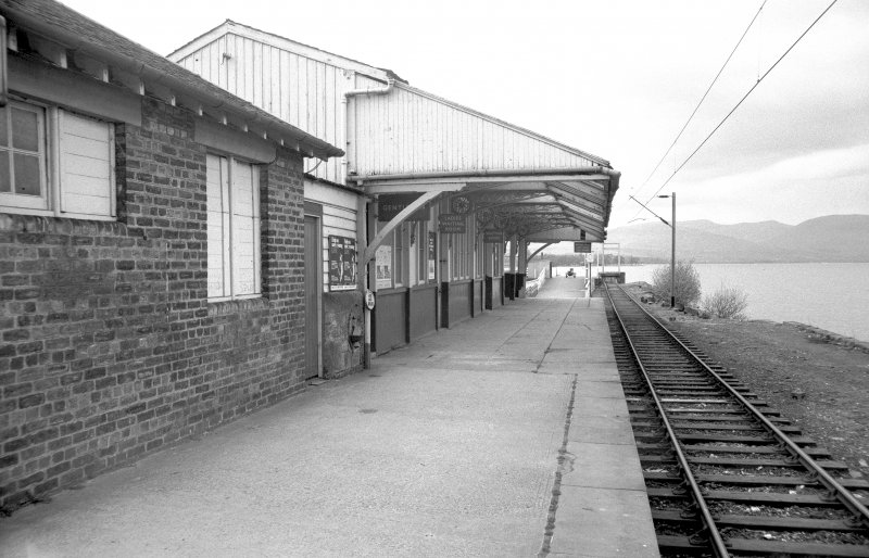 View from ESE looking down station platform