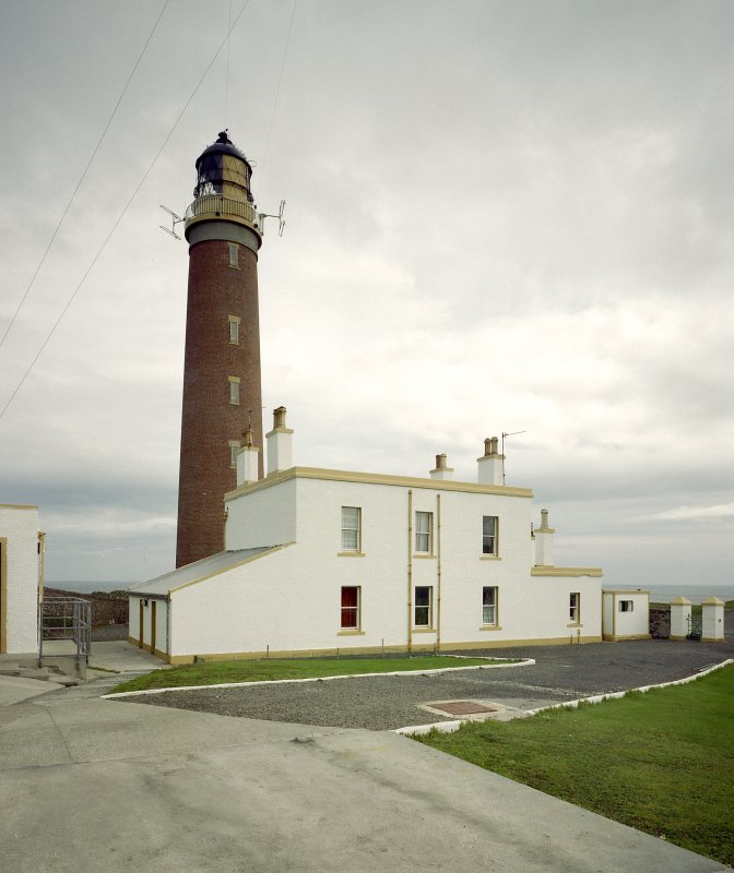 View of Butt of Lewis Lighthouse and principal keeper's house from WSW.