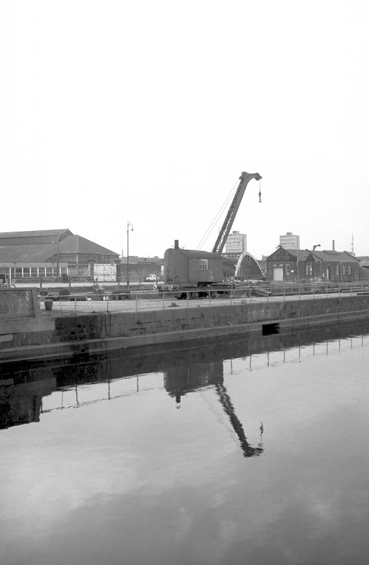View from ENE showing steam crane no 8