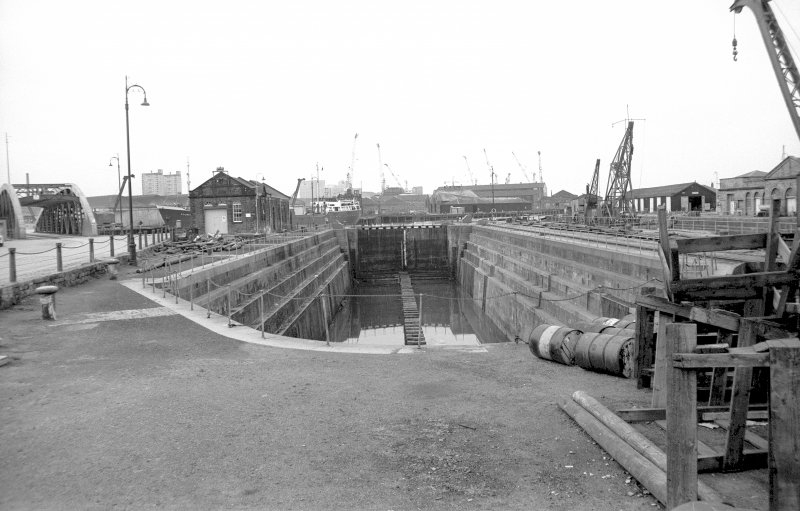 View from ESE showing dry dock with lock gates closed