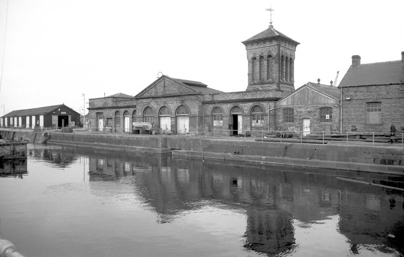 View from SSE showing SSW and ESE fronts of pumping station