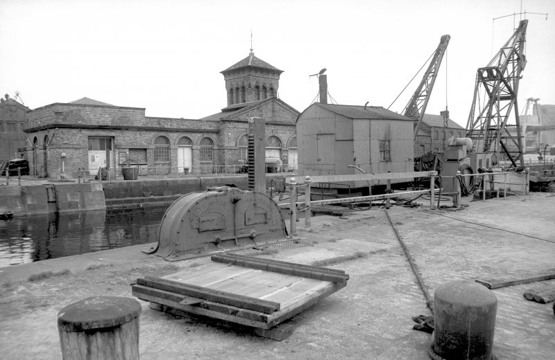 View from SSW showing barge Grab no 1 with SSW front of pumping station in background